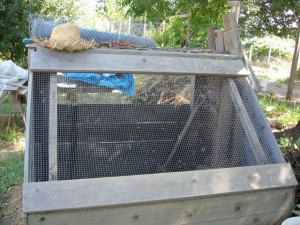 Compost Sifter:  Back View